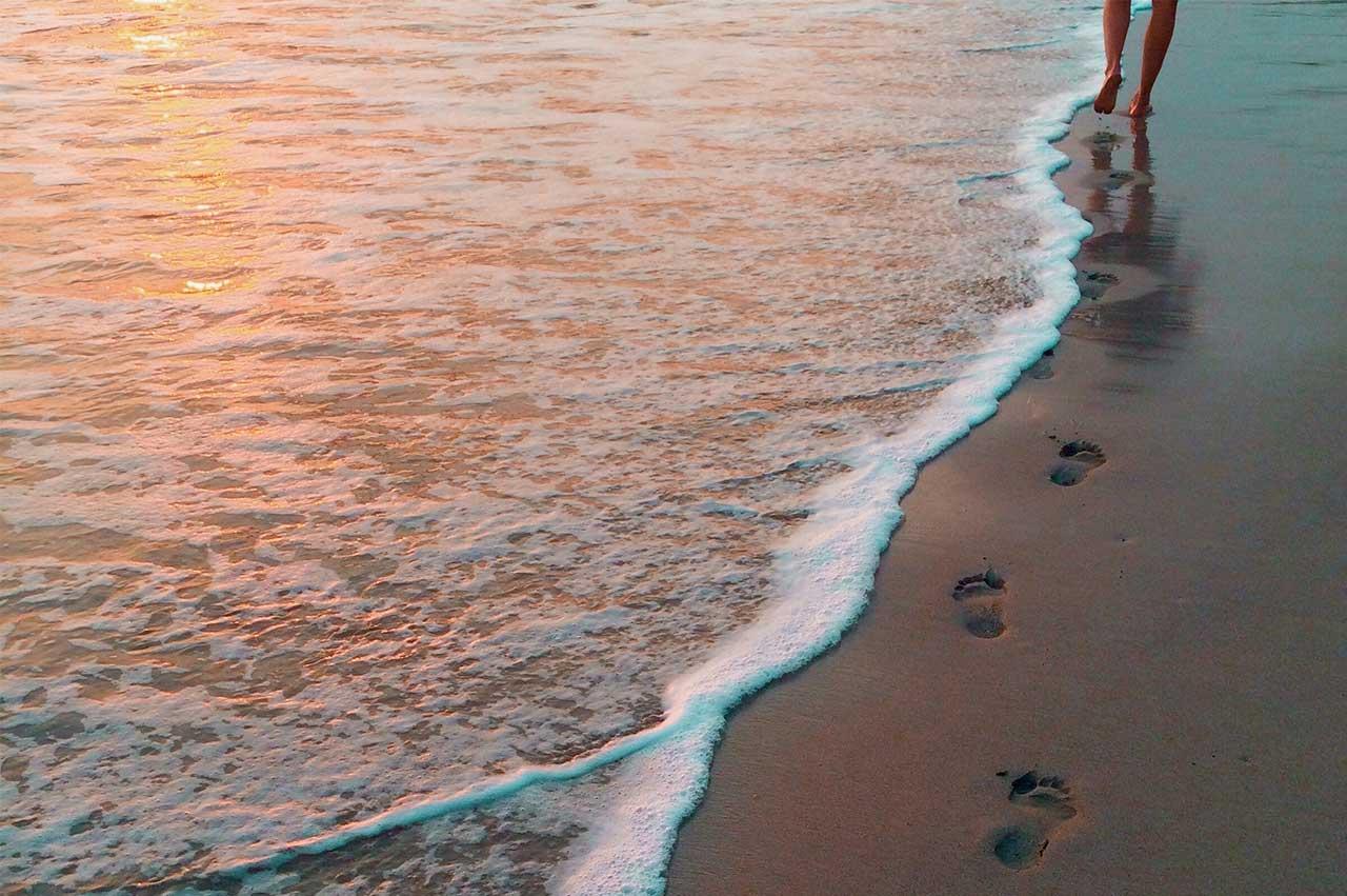 we like long walks on the beach