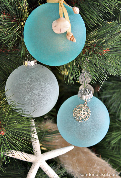 Bring the beach to Christmas by making DIY ornaments.